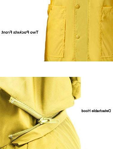 Anboer Women's Raincoat Rain Yellow