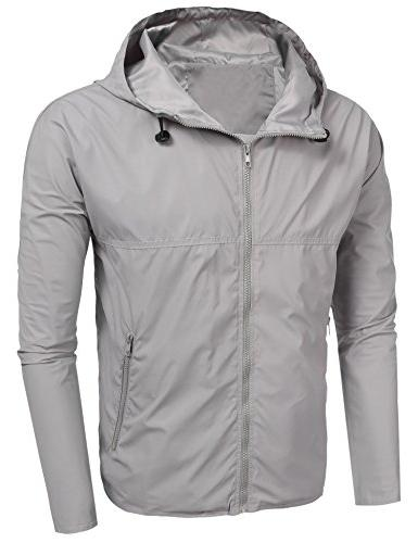 BULGES Mens Lightweight Raincoat Outdoor