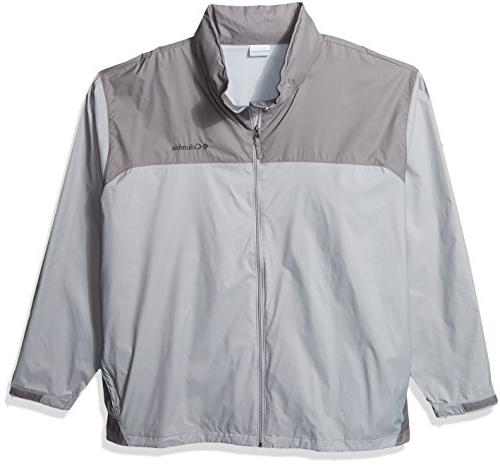 Columbia Men's Big and Tall Glennaker Lake Rain Jacket, Grey