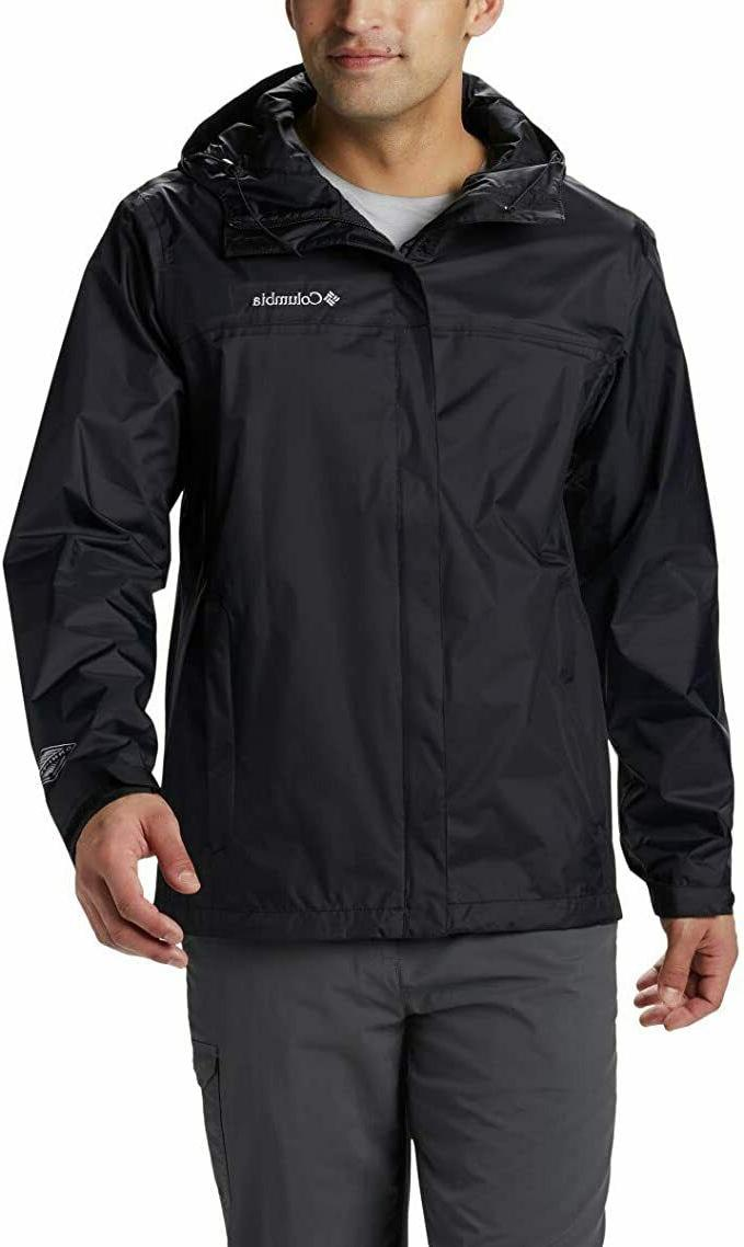 Columbia Men's Watertight II Rain Jacket, Black, Medium