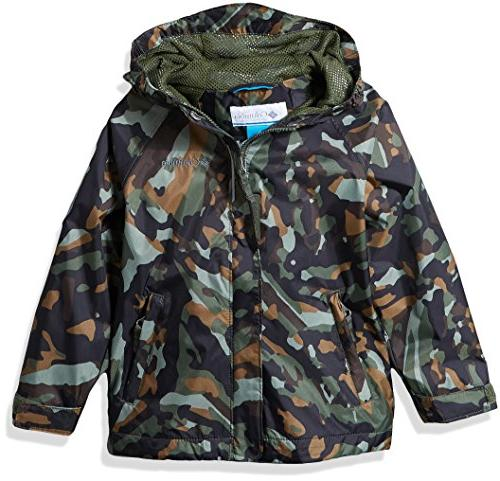 Columbia Toddler Kids Fast and Curious Rain Jacket, Surplus