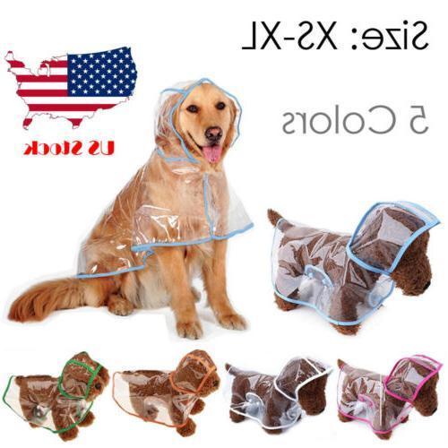 Dog Puppy Rain jacket  RainCoat Clothes waterproof small XL