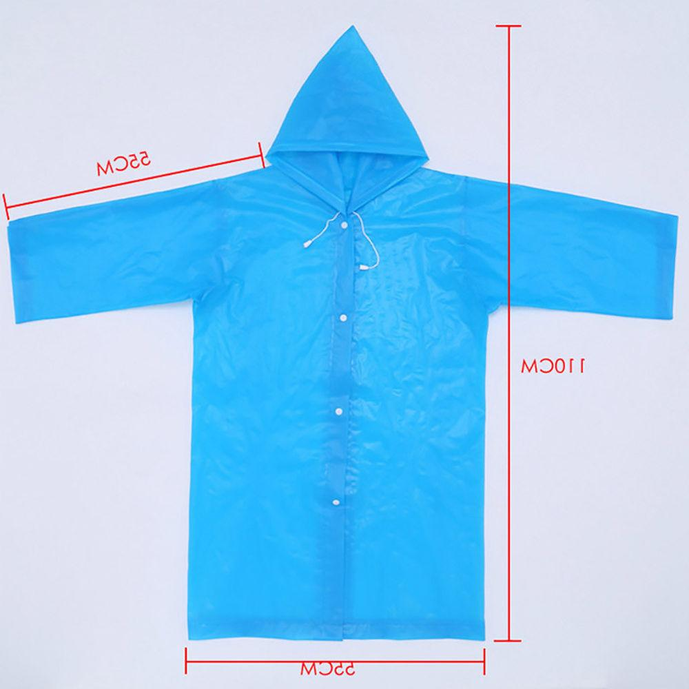 EP_ Kids children Waterproof Hooded Outwear Poncho