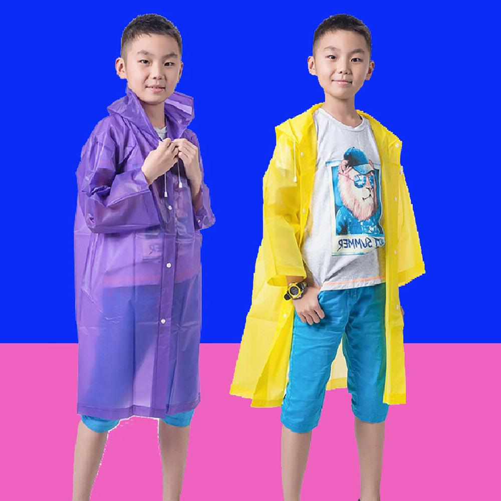 CO_ Kids children Waterproof Hooded Outwear Poncho G