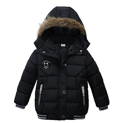 FEITONG Fashion Kids Coat Boys Girls Thick Coat Padded Winte