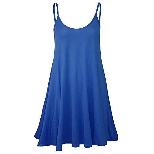 FEITONG Womens Sleeveless Camisole Swing Dress Floaty Flare
