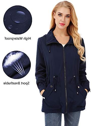 FISOUL Raincoats Women's Waterproof Lightweight Rain Jacket