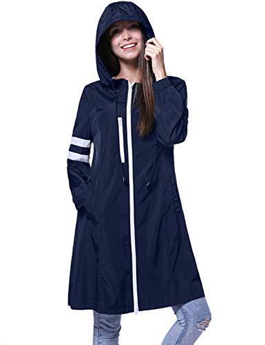 Fancyqube Women's Lightweight Packable Active Outdoor Rain J