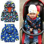 Fashion Kids Boys Waterproof Windproof Hooded Jacket Rain Co