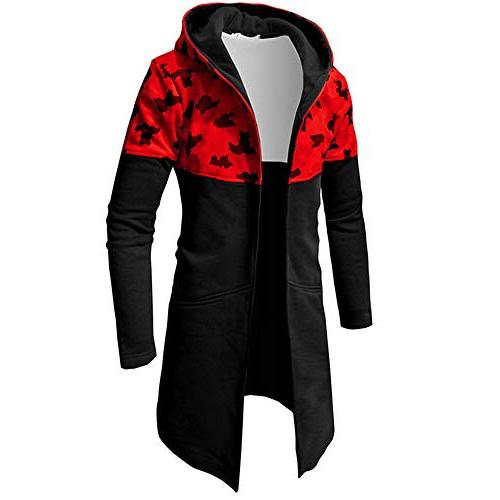 Forthery Winter Clearance Mens Trench Coat Winter Long Jacket Overcoat Cardigan