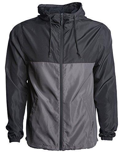 Global Men's Hooded Lightweight Windbreaker Rain Jacket Wate