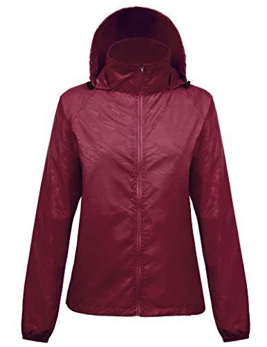 Kate Kasin Durable Girls Packable Light Rain Jacket Softshel
