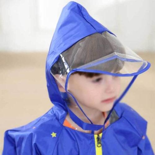 Kids Rain Coat Poncho Nylon Raincover