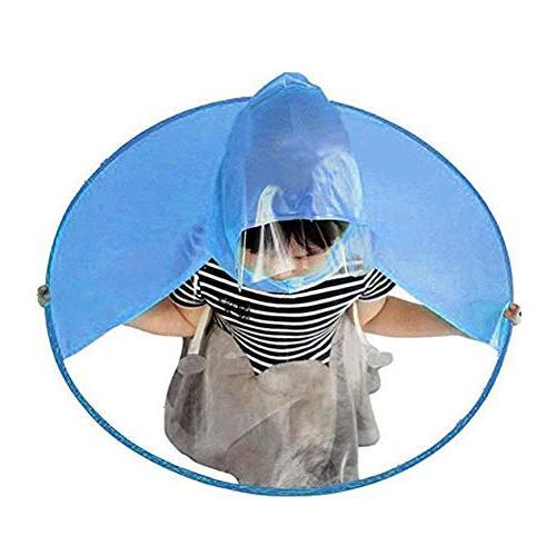 Kids Raincoat Children Rain Ponchos Child Blue Raincoat Foldable Hooded on