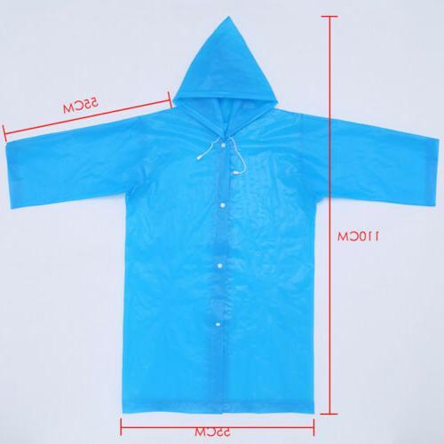 Kids Reusable Rainwear Waterproof Raincoat Hooded Coat