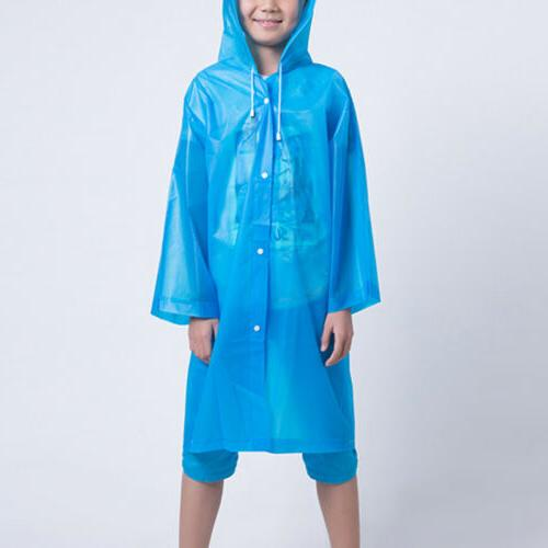 Kids Reusable Rainwear Waterproof Hooded