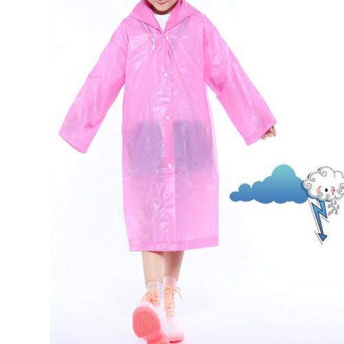 Kids Reusable Waterproof Rain Hooded Rain