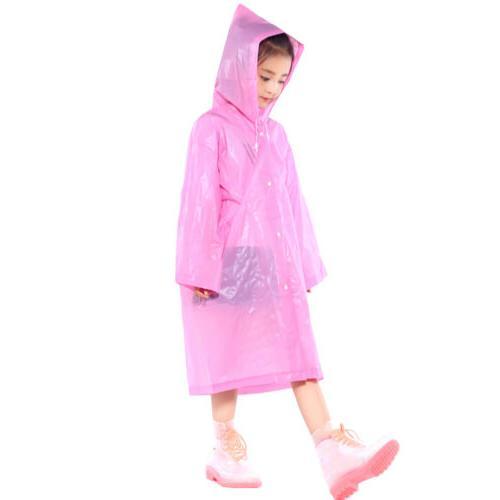 Kids Waterproof Raincoat Ponchos Hooded Coat