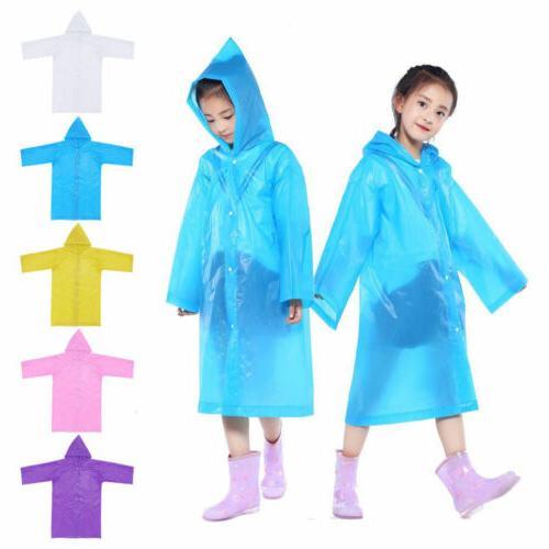 Kids Toddler Reusable Rainwear Waterproof Raincoat Rain Ponc