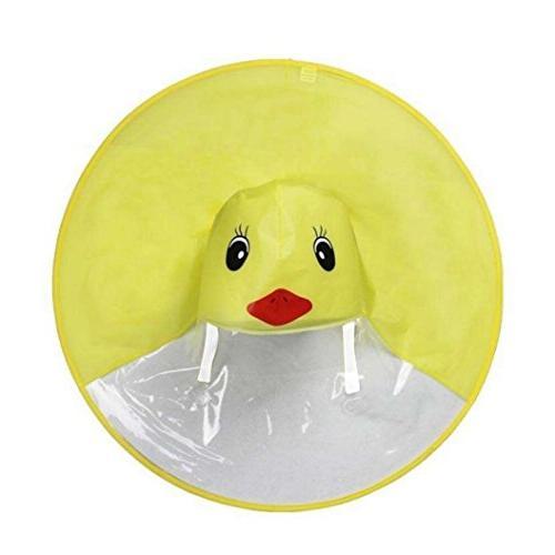LNGRY Raincoat,Baby Girls Hands-Free UFO Cloak Umbrella