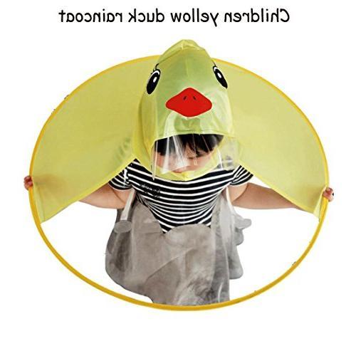 LNGRY Baby Raincoat,Baby Boys Girls Creative Duck Magical Ha