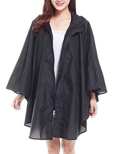 LOHASCASA Rain Coat for Adults Waterproof Packable Rain Ponc