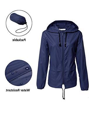 Women Raincoats,Waterproof Lightweight Rain Jacket Outdoor H