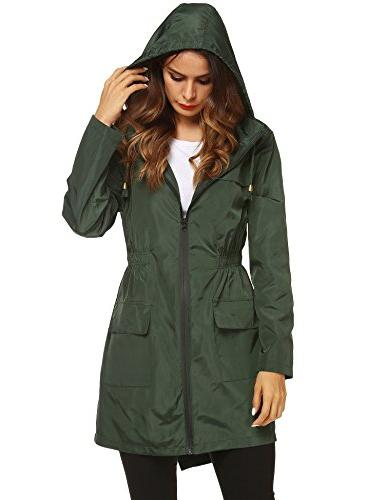 ZHENWEI Womens' Trench Windbreaker