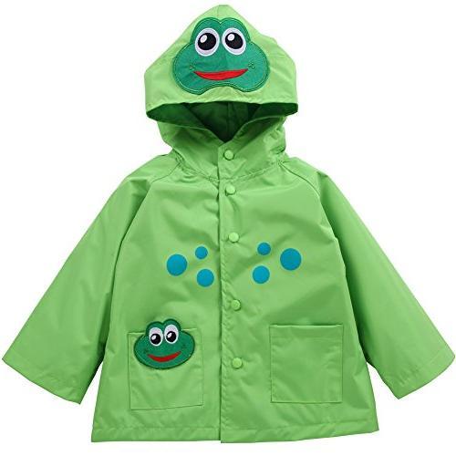 LZH Baby Girls Boys Waterproof Raincoat Windbreaker Hooded B