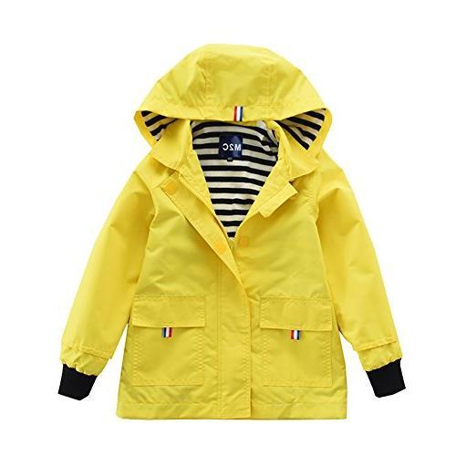 M2C Boys & Girls Raincoat Hooded Jacket Outdoor Light Windbr