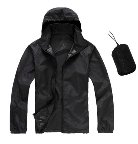 Men Women Jacket Outdoor Lightweight Hooded Rain Coat