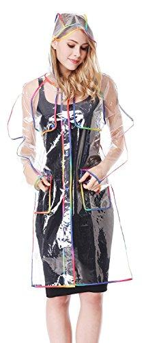 Mother and Children Transparent with Colorful Edge Fashion R