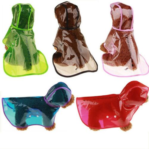 New Clear Pet Rain Coat for Dogs Pet Jacket Cute Casual Wate