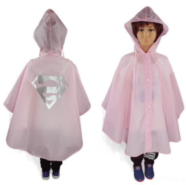 New Kids Rain Poncho Rainwear Rainsuit Halloween US