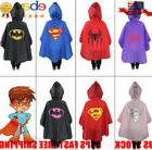 New Kids Rain Coat Poncho Rainwear Waterproof Superhero Rain
