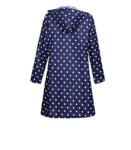 Old Rain Coat Waterproof Raincoat,Portable Poncho for Polka Dot