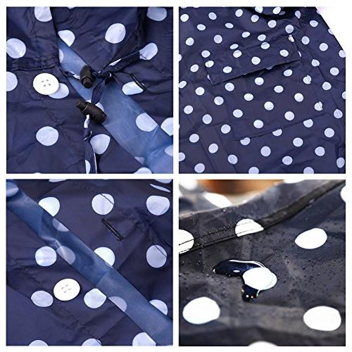 Old Rain Coat Raincoat,Portable Poncho Dot with