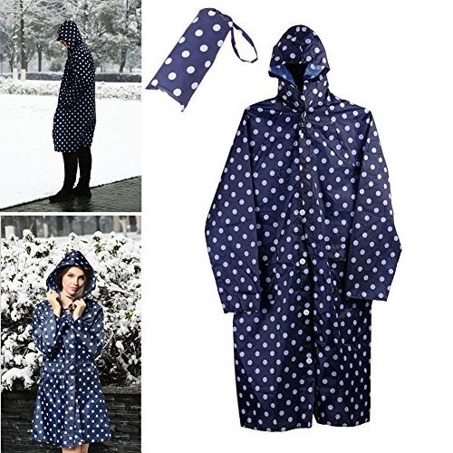 Old Jackets,Rain Coat Waterproof Poncho Dot with Pockets