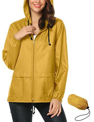 Packable Lightweight Outdoor Raincoat,Rain Poncho Womens Wat