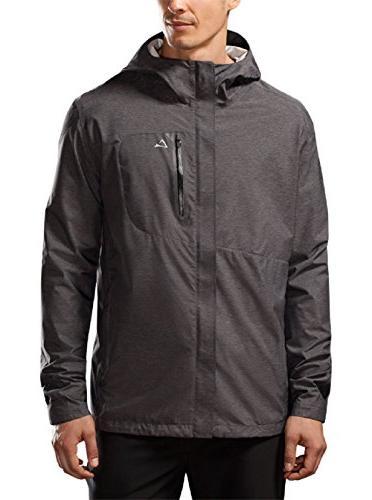 Paradox Men's Waterproof Breathable Rain Jacket, XL Black