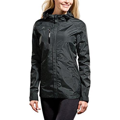 Paradox Women's Waterproof Breathable UPF 50 Rain Jacket, Bl