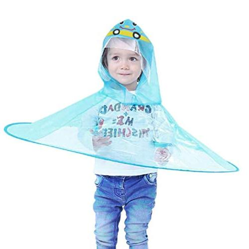 Pumsun  Cute Rain Coat UFO Children Umbrella Hat Magical Han