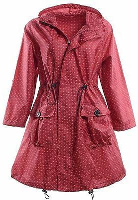 QZUnique Womens Rain Jacket Outdoor Poncho Raincoat Packable