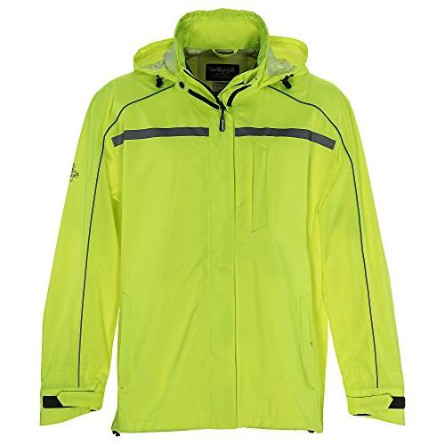 Refrigiwear Men's Hivis Waterproof Rain Jacket with Reflecti