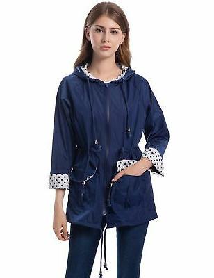 Romanstii Lined Rain Jacket Women Waterproof Breathable Rain for