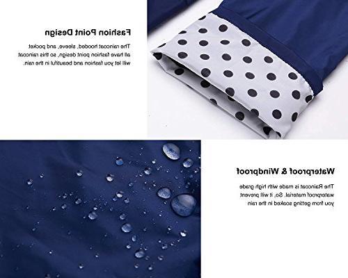 Romanstii Jacket Women Waterproof Breathable Rain Hiking Navy Blue