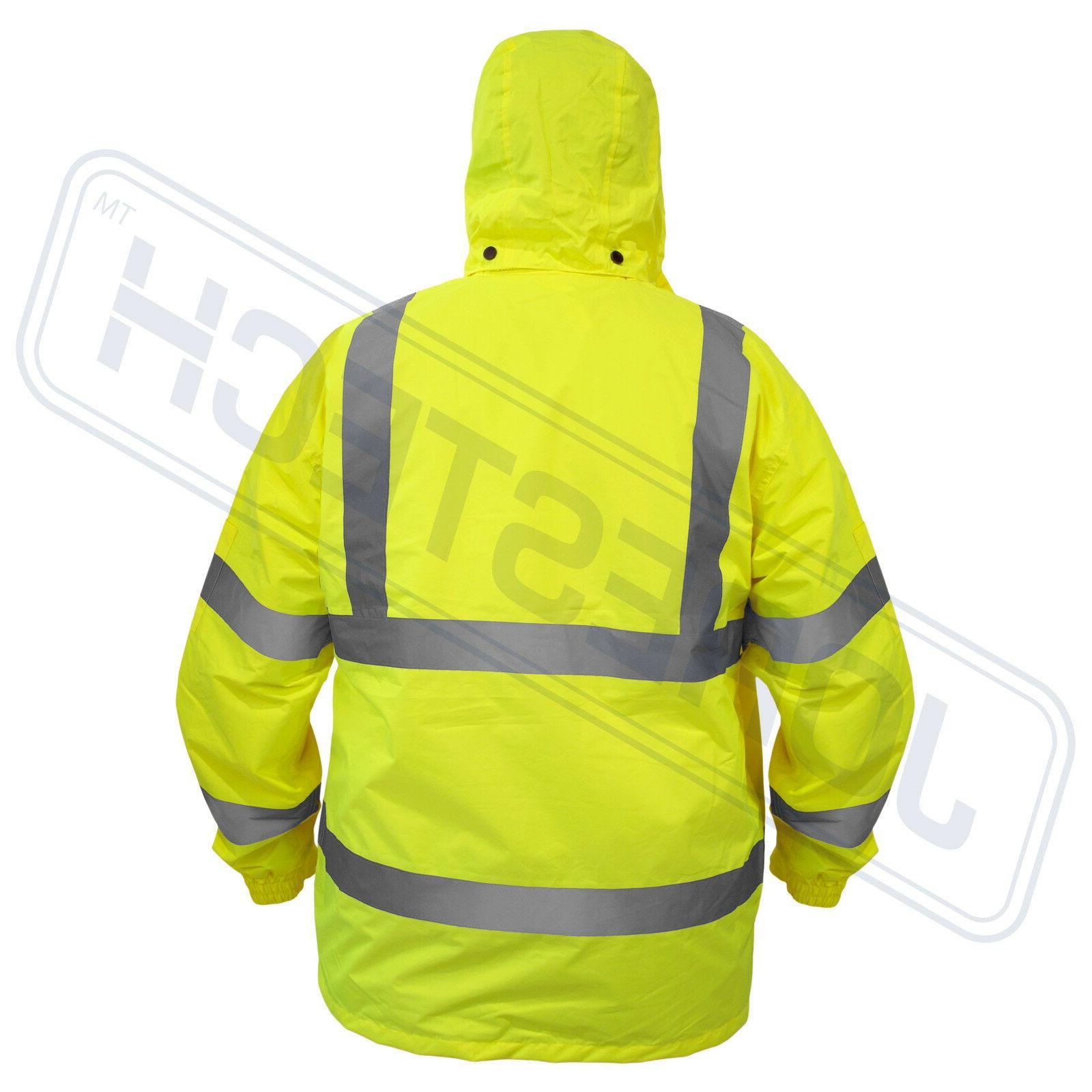 Safety Green Raincoat w S-5XL