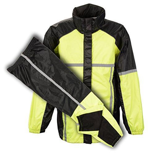 Shaf Nylon Mens Raincoats Mpm9510-5X-Neongreen Men's High Vi