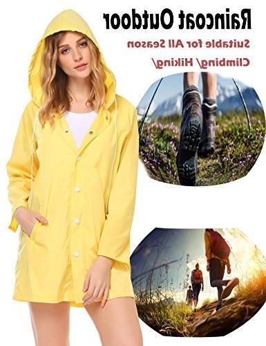SoTeer Women's Lightweight Raincoat Long Outdoor Jacket