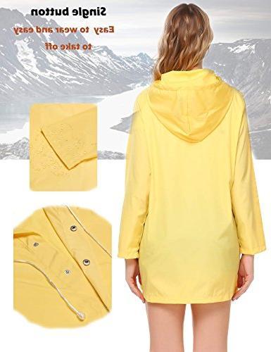 SoTeer Women's Raincoat Long Outdoor